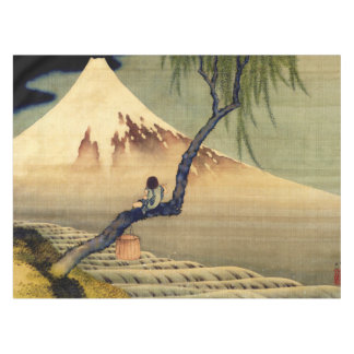 Hokusai Boy Viewing Mount Fuji Japanese Vintage Tablecloth