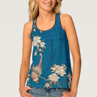 Hokusai Bullfinch and Weeping Cherry GalleryHD Tank Top