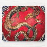Hokusai Dragon Mouse Pad