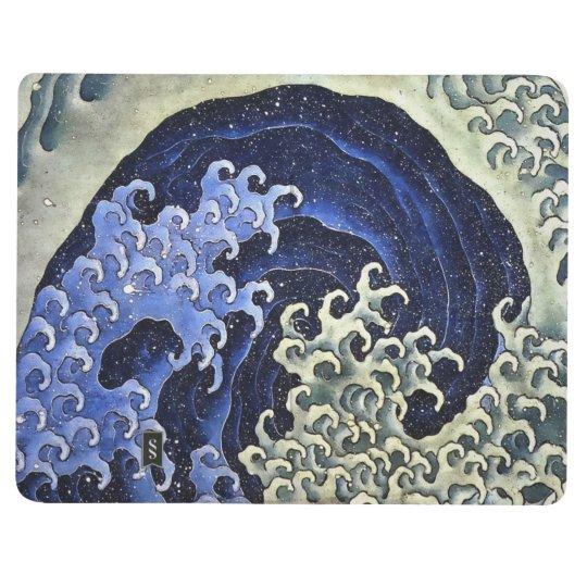 Hokusai Feminine Wave Japanese Vintage Fine Art Journal