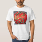Hokusai Gold Japanese Dragon T-shirt
