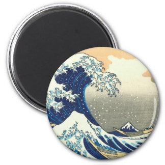 Hokusai great wave fridge magnets