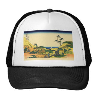 Hokusai great wave print painting cap