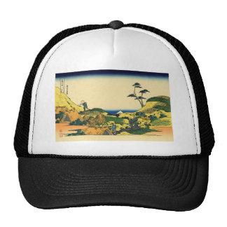 Hokusai great wave print painting cap