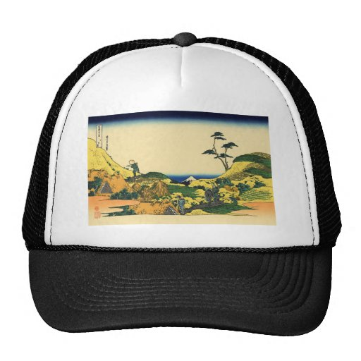 Hokusai great wave print painting hat