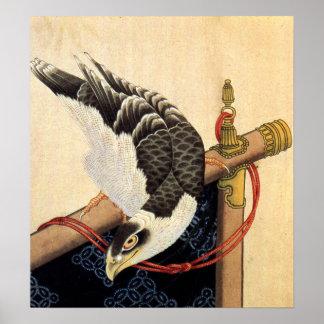 Hokusai Hawk Poster