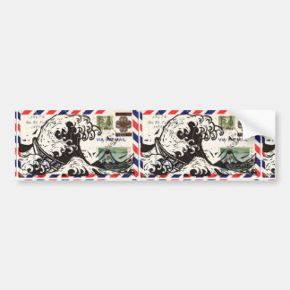 HOKUSAI JAPAN WAVE BUMPER STICKER