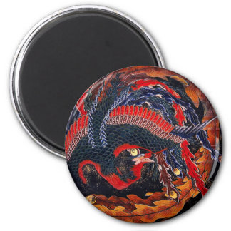 Hokusai Japanese Phoenix Magnet