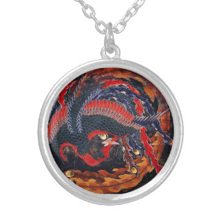 Hokusai Japanese Phoenix Necklace