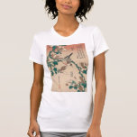 Hokusai Java Sparrow on Magnolia GalleryHD Shirts