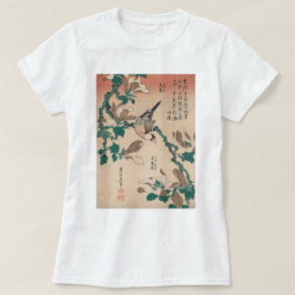 Hokusai Java Sparrow on Magnolia GalleryHD T-Shirt