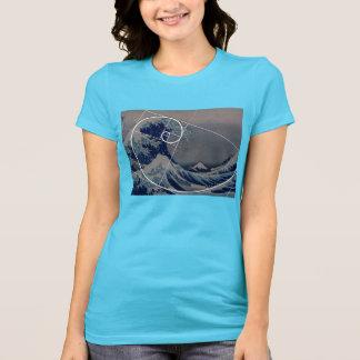 Hokusai Meets Fibonacci, Golden Ratio T-Shirt