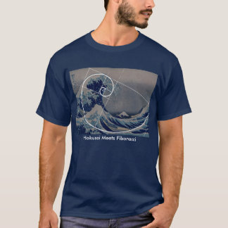 Hokusai Meets Fibonacci, Golden Ratio T-Shirt