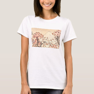 Hokusai Mount Fuji Cherry Blossoms T-shirt