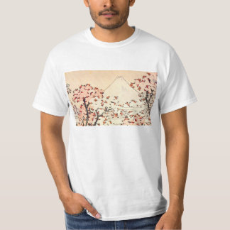Hokusai Mount Fuji Cherry Blossoms T-Shirt