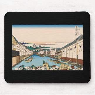 Hokusai Nihonbashi bridge in Edo Mouse Mat
