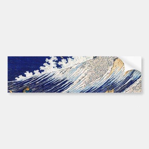 Hokusai Ocean Waves Japanese Fine Vintage Bumper Sticker