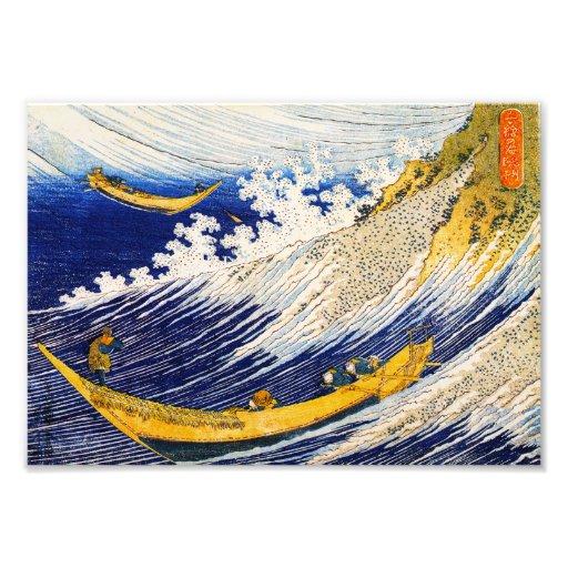 Hokusai Ocean Waves Print Photo Art