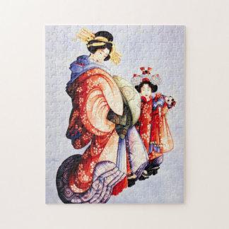 Hokusai Oiran and Kamuro Puzzle