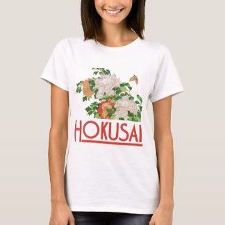 Hokusai Peonies and Butterfly Reboot T-Shirt