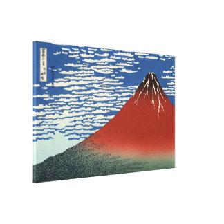 Hokusai Red Fuji, South Wind, Clear Sky GalleryHD Canvas Print