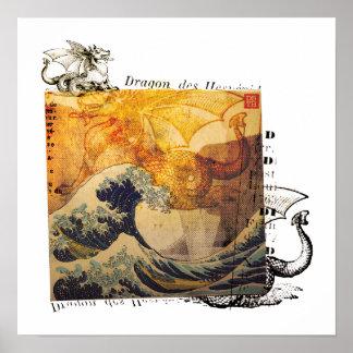 Hokusai s Dragon Poster