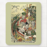 Hokusai Seven Gods of Good Fortune 葛飾北斎 Mouse Pad