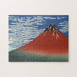 Hokusai South Wind Clear Sky Red Fuji Jigsaw Puzzle