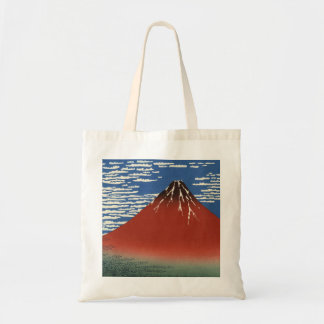 Hokusai South Wind Clear Sky Red Fuji Tote Bag