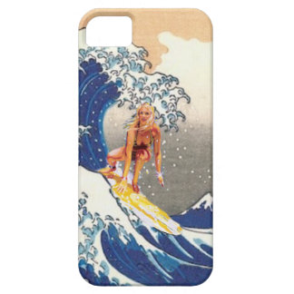 Hokusai Surfer Girl iPhone 5 Cover