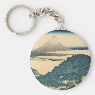Hokusai: The Circular Pine Trees of Aoyama Basic Round Button Key Ring