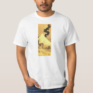 Hokusai The Dragon of Smoke Escaping Mount Fuji Tee Shirt
