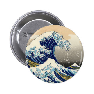 Hokusai The Great Wave Button