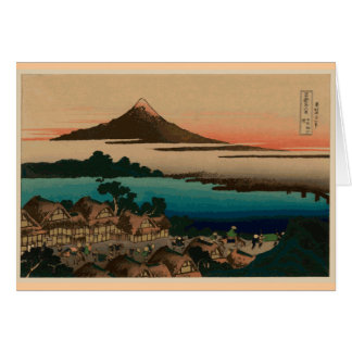 Hokusai view of Mount Fuji Card