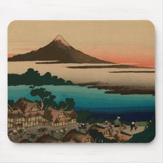 Hokusai view of Mount Fuji Mouse Mat