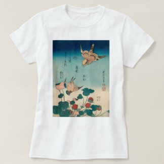 Hokusai Vintage Shrike and Bluebird GalleryHD T-Shirt
