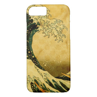 Hokusai Wave and vintage dots iphone 7 case