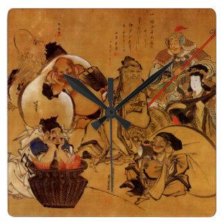 Hokusai's '7 Gods of Fortune' Clock