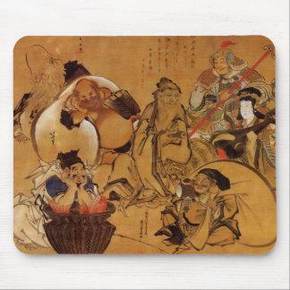 Hokusai's '7 Gods of Fortune' Mousepad