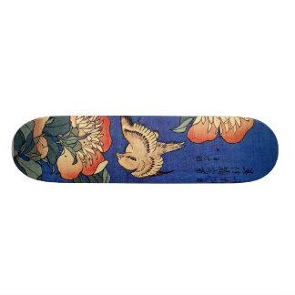 Hokusai's 'Flowers' Skateboard