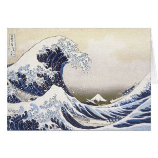 Hokusai's Great Wave Card
