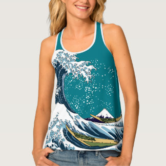 Hokusai's Great Wave off Kanagawa Tank Top