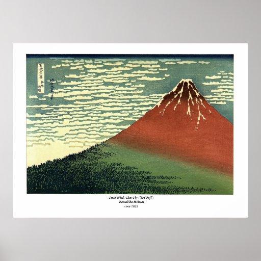 "Hokusai's South Wind, Clear Sky or ""Red Fuji"""