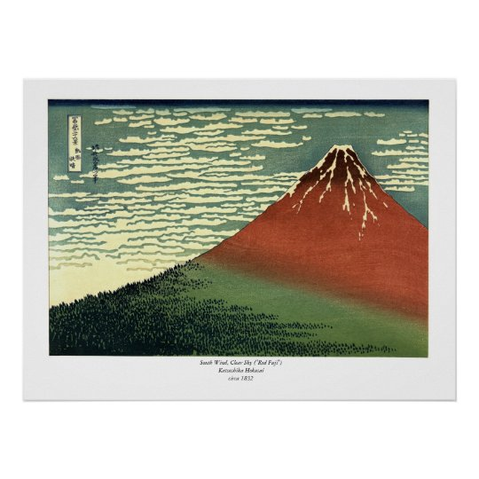 "Hokusai's South Wind, Clear Sky or ""Red Fuji"""