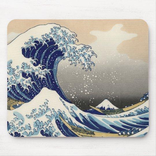 Hokusai's 'The Great Wave Off Kanagawa' Mousepad