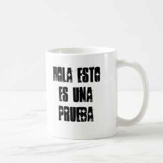 hola esto es una prueba basic white mug
