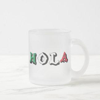 HOLA FROSTED GLASS MUG