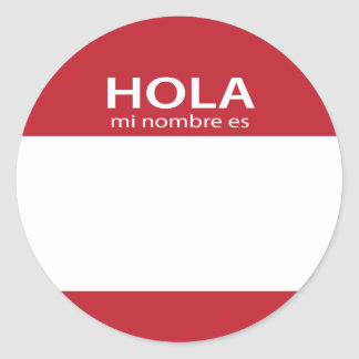 Hola Mi Nombre Es RED spanish hello tag