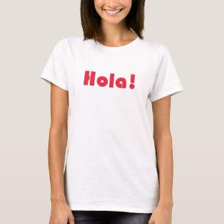 Hola Spanish Language Hello Typography Womens Tee