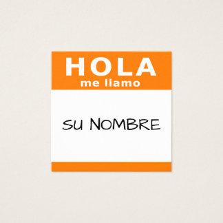 hola su nombre square square business card